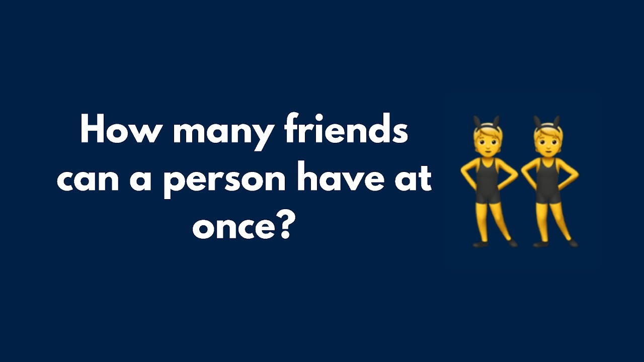 How Many Friends Is Too Many? Dr Mary Kempnich Explains