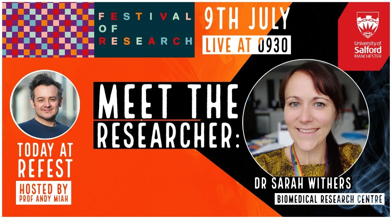LIVE at #ReFest with Dr Sarah Withers