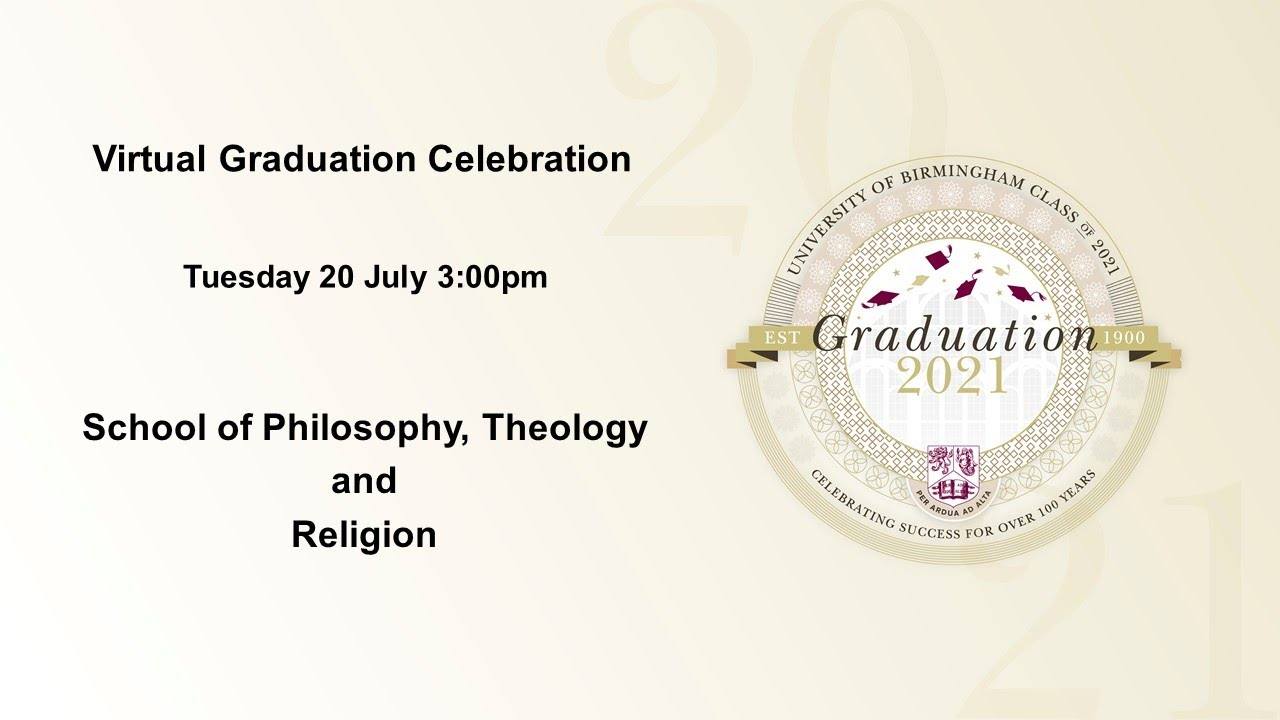 Virtual Graduation Celebration - Tuesday 20 July 3.00pm, School of Philosophy, Theology and Religion