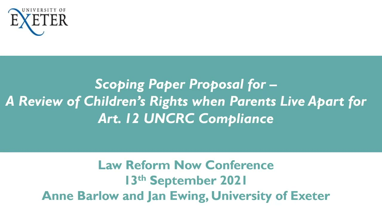 A review of children's rights when parents live apart
