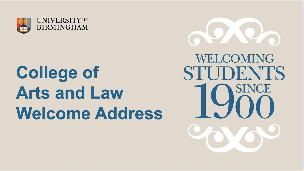 College of Arts and Law Welcome Address