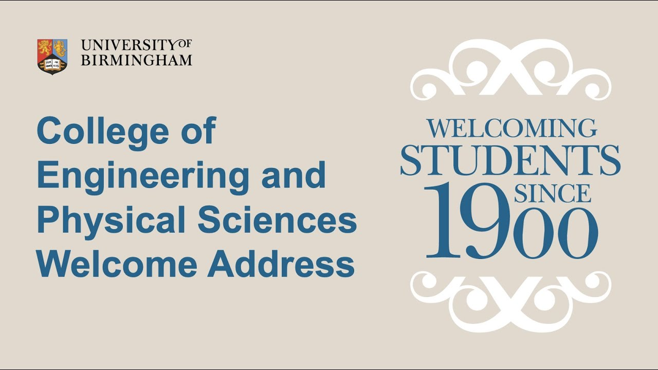 College of Electrical and Physical Sciences Welcome Address