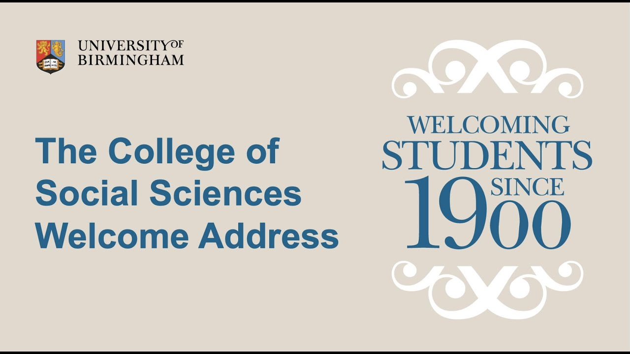 College of Social Sciences Welcome Address
