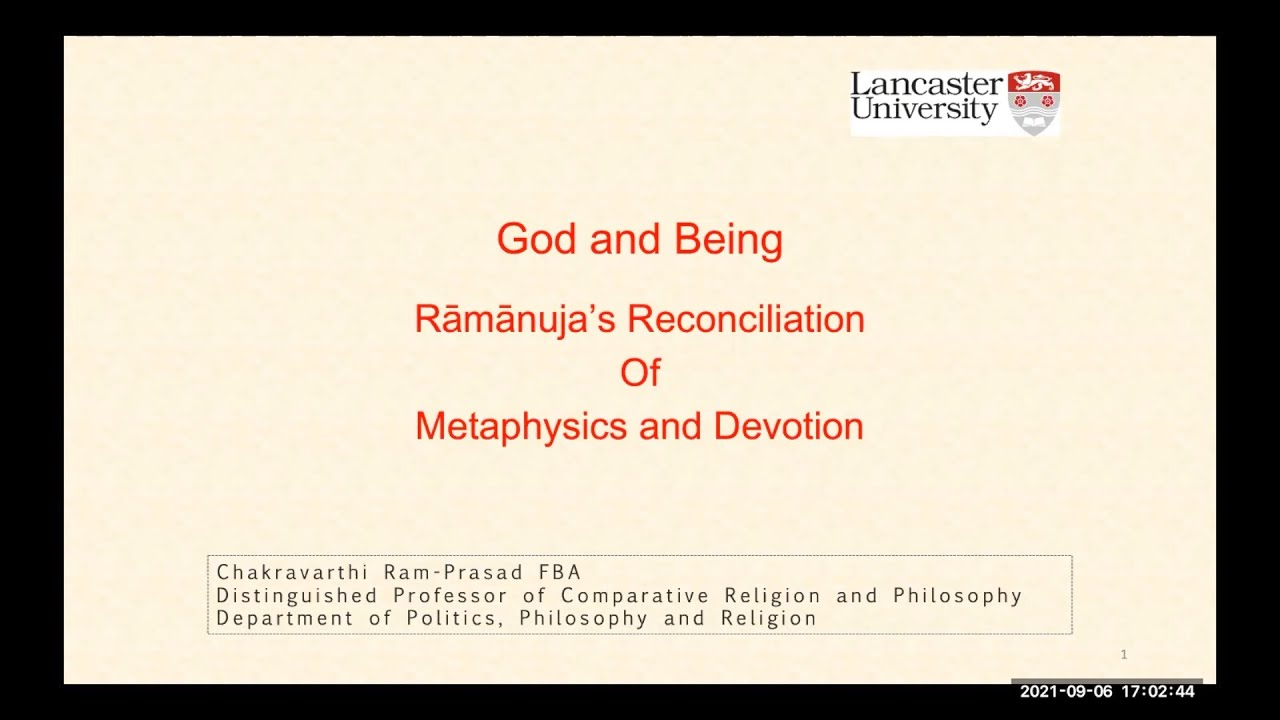 God and Being: Rāmānuja's Reconciliation of Metaphysics and Devotion