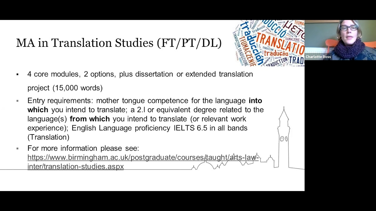 Introduction to a Masters in Modern Languages