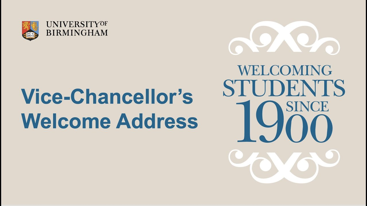 Vice-Chancellor's Welcome address 2021
