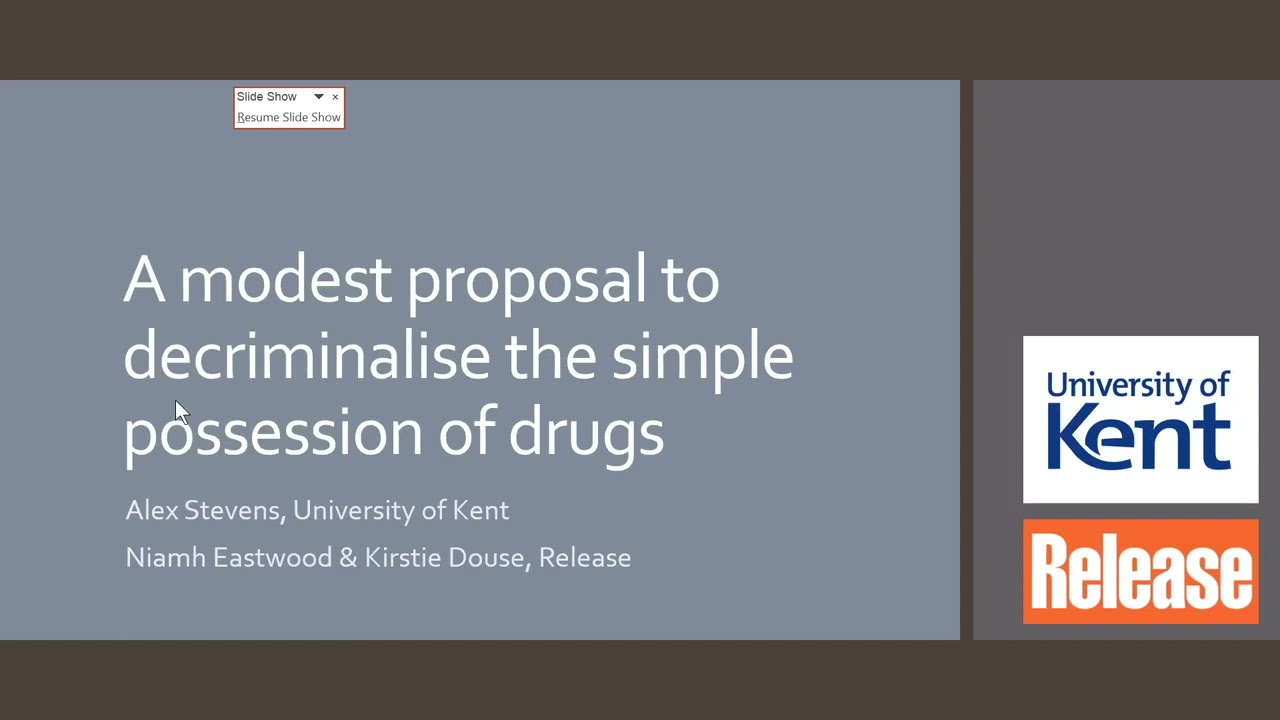 A modest proposal to decriminalise the simple possession of drugs