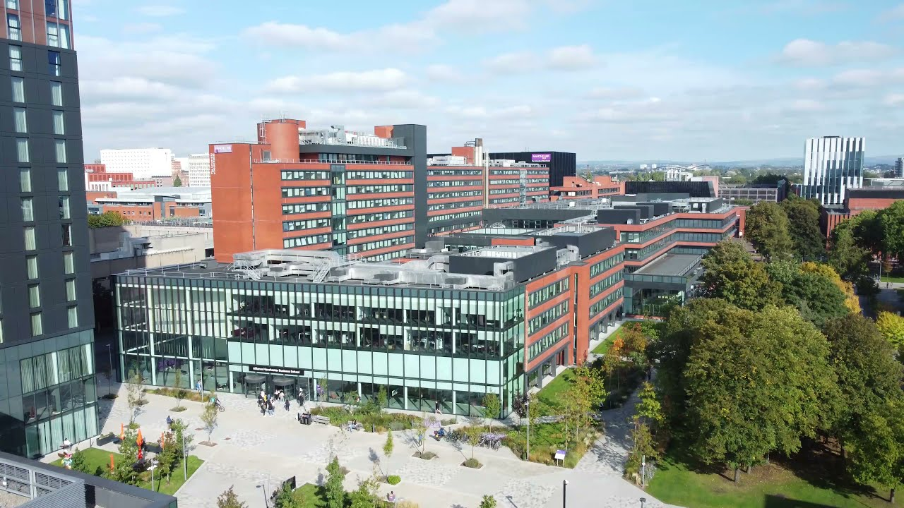 Alliance Manchester Business School campus from above