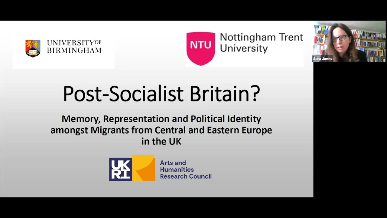 Memory, Representation and Political Identity amongst Migrants from Central and E. Europe in the UK