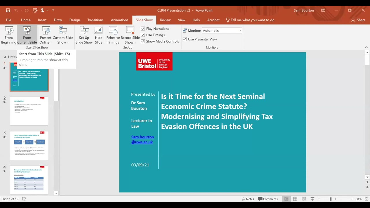 Is It Time for the Next Seminal Economic Crime Statute? Simplifying Tax Evasion Offences in the UK