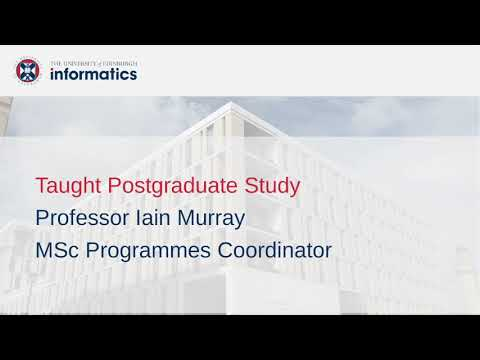 Taught MSc Degrees at the School of Informatics