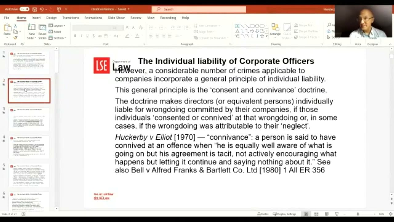 The Individual Liability of Corporate Officers for Employee Crime